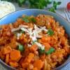 Neujahrspower in Orange: Linseneintopf mit Süßkartoffeln und Karotten