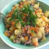 Karotten-Kartoffel-Pfanne mit Faschiertem - mein Spezialtipp
