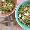 Quinoasalat mit Spargel und Ziegenkäse