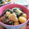 Lauwarmer Kartoffelsalat mit Sardinen
