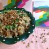 Mujaddara - Bulgur und grüne Linsen Maha-Style