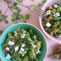 Lauwarmer Spargel Linsen Salat