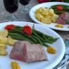 Dinner for 2: Lammfilet mit Karotten-Pesto