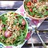 Mediterraner Nudelsalat mit Basilikum-Pesto