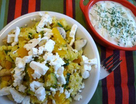Vegetarischer Couscous mit Tsatsiki