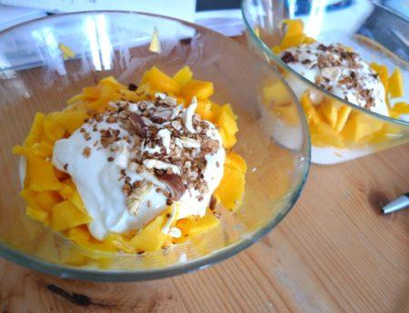 Karibischer Topfentraum mit Mango