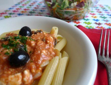 Carboloading für den Frauenlauf: Penne mit Tomaten