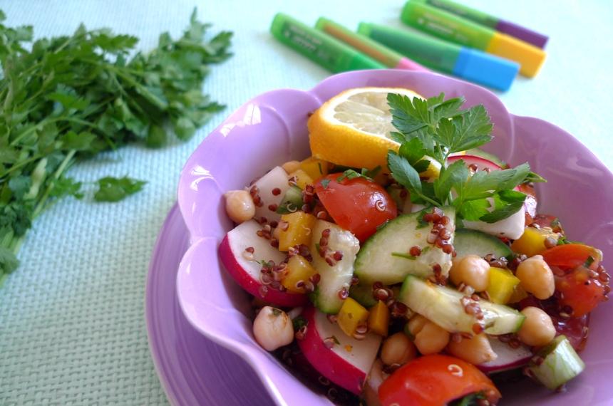 Kichererbsen-Quinoa-Salat