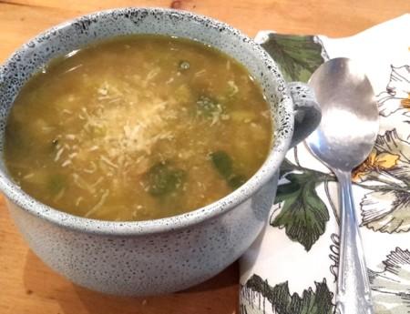 Herbst-Suppe mit Lauch, Kichererbsen und Kartoffeln