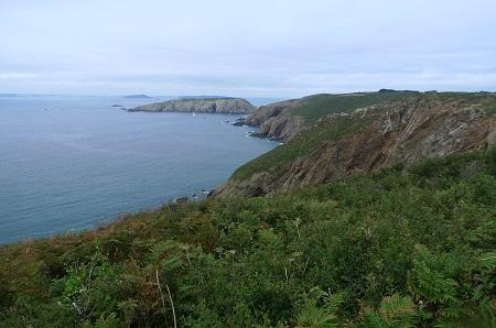 Blick über die Küste von Sark