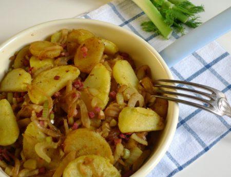 Herzhafte Fenchel-Kartoffel-Zwiebel Pfanne