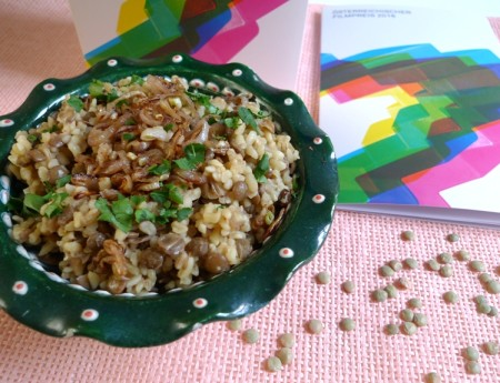 Mujaddara – Bulgur und grüne Linsen Maha-Style