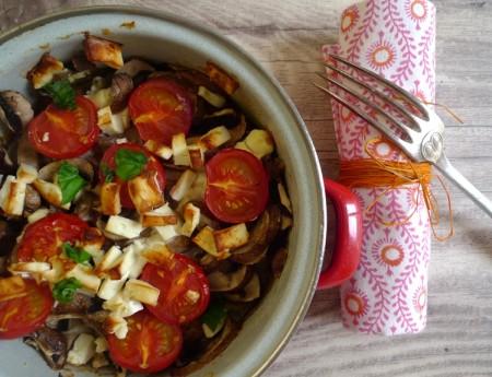 One Pot aus dem Rohr: Polenta mit Champignons