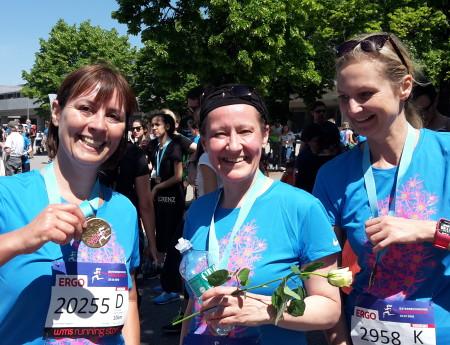 10 Kilometer beim Frauenlauf geschafft!