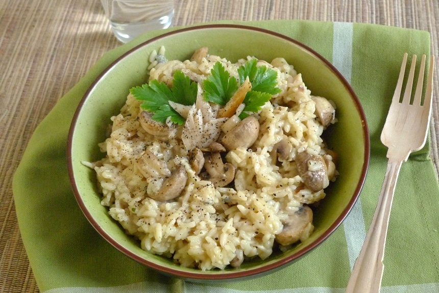 Risotto mit Forelle