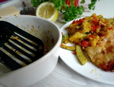 Spätsommer Polenta-Gemüse-Auflauf