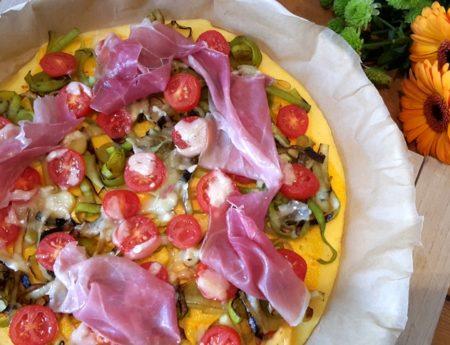 Maispizza mit Prosciutto di San Daniele & Grana Padano