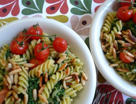 Zum Tag der italienischen Küche: Pasta in grün-weiß-rot