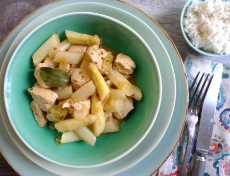 Wunderbare Spargelzeit mit Huhn-Spargel-Ragout