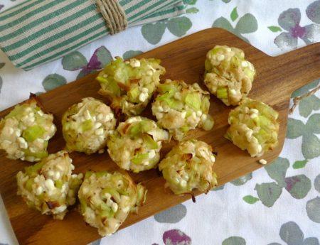 Lauch-Laibchen mit Cottage Cheese für den Picknick-Korb