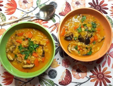 Das Jahr beginnt suppig – Wurzelsuppe mit Quinoa